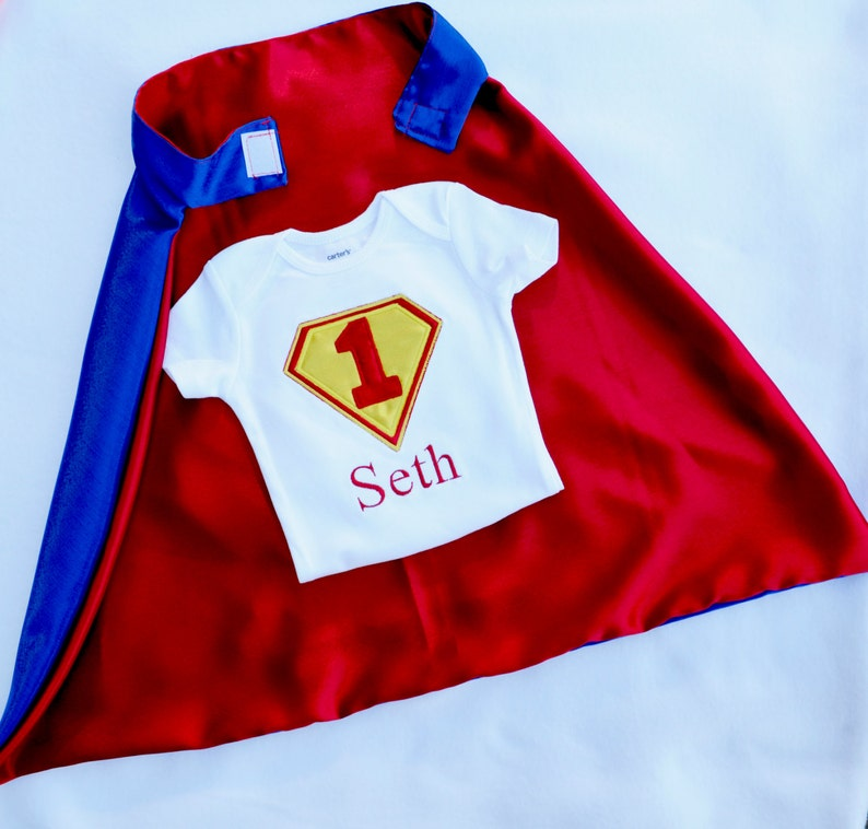 Boys First Birthday Outfit,Personalized 1st Birthday shirt for Boy,First Birthday Boy Cake Smash Outfit,embroidered cape,boys 1st birthday