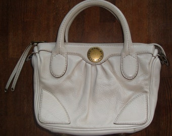 bafc512a04d1 Marc by Marc Jacobs Soft Leather Cream Color Handbag