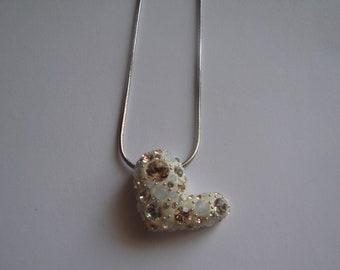 Authentic Swarovski Crystal Heart Pendant Necklace