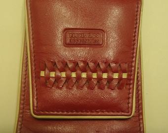 Vintage ROLAN Accessories Ginuine Leather Cigarette Case