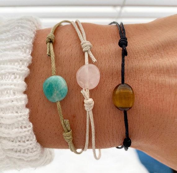 Loose Gemstone Amethyst Quartz Bracelet Adjustable 2 mm BB03 Rondelle /& Faceted 7 Inch Long