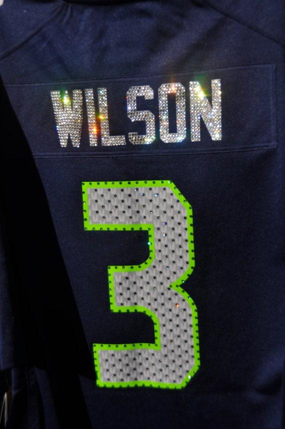 f5727ed23 Seattle Seahawks Sparkle Jersey Swarovski Crystal