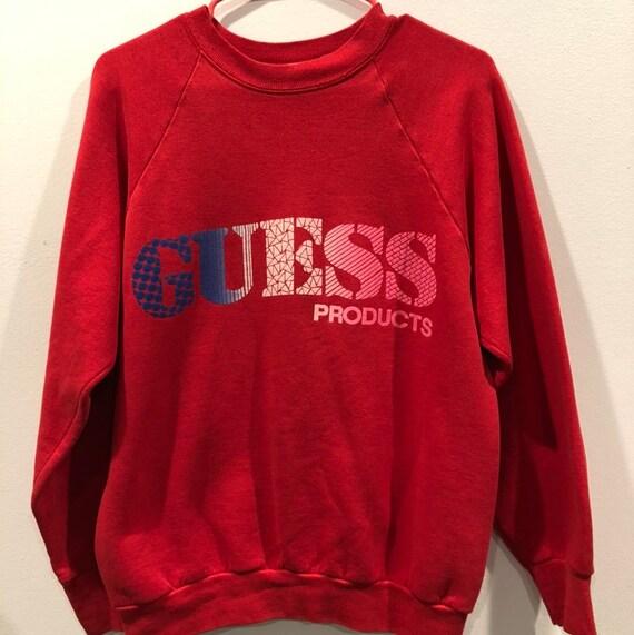 Vintage 80's GUESS Spellout Crewneck Sweatshirt