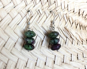 Ruby Zoisite Earrings