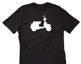 Piaggio Motorcycle Scooters shirt black white tshirt men/'s free shipping