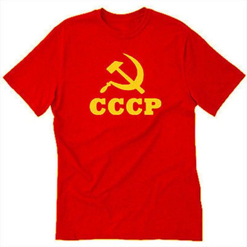 T Urss Faucille Soviétique Rétro Et Communisme Communiste Shirt Union Au Cccp La Tee Marteau nwO0k8XP