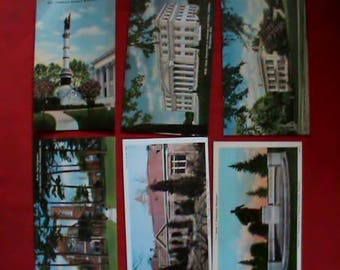 Lot of 12 different vintage 1940s 1950s unused Post Cards, State of Alabama