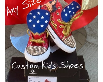 3819461c14ab Wonder Woman Custom Converse