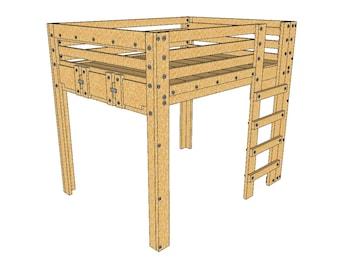 Queen Loft Bed Plans