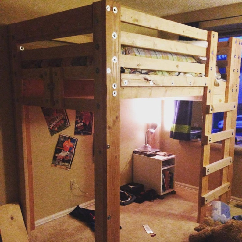 Twin Loft Bed Plans Etsy