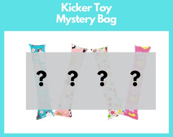 Mystery Grab Bag- Full sized kicker grab bag- surprise designs-  four count - silvervine kickers