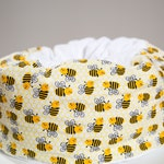 Cat bed - round cat bed , flannel bed, machine washable cat bed, cute cat bed, summer cat bed, honeybee pet bed
