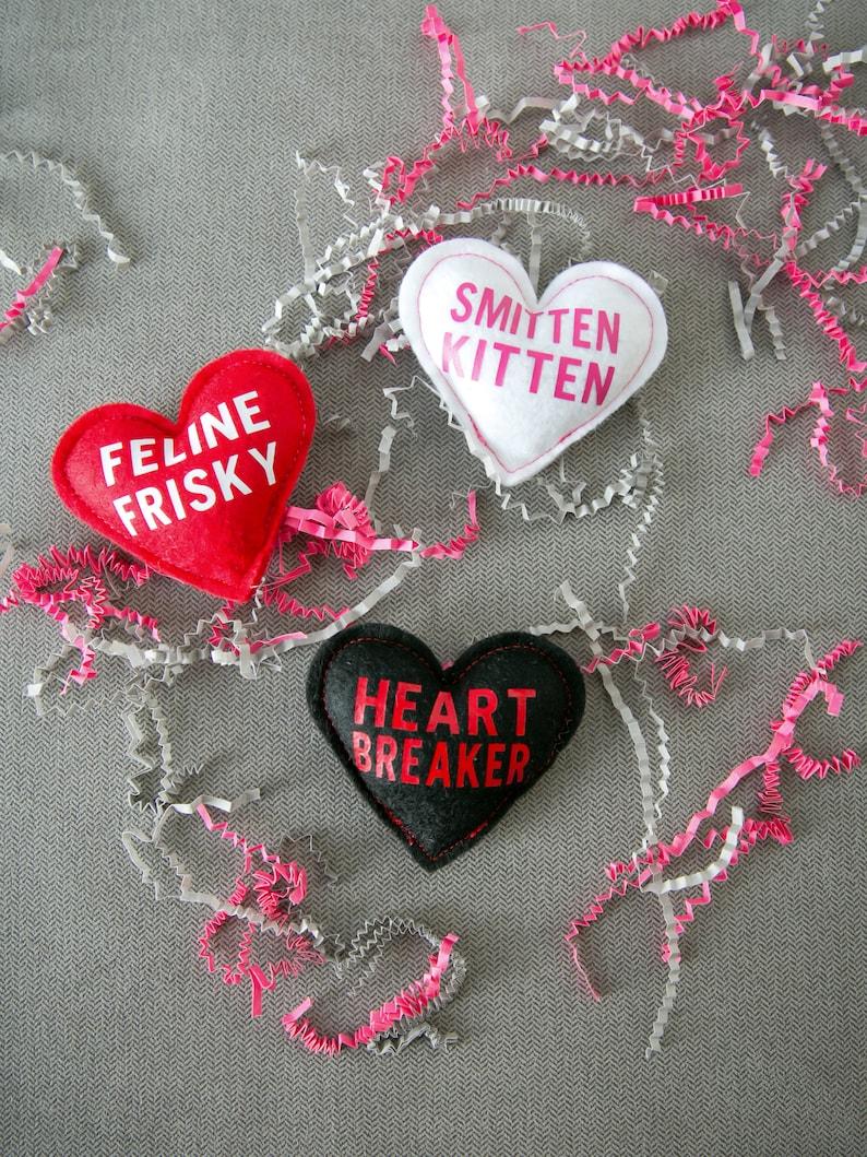 Conversation Heart Catnip Toys