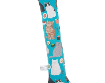 Silvervine Cat Toy- cats and sushi cat toy dark teal, Catnip kicker toy for cats, silvervine kicker toy for cats