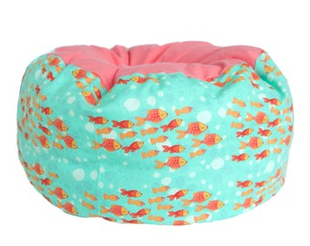 Flannel Cat Bed- goldfish cat bed, summer cat bed, machine washable pet bed, small animal pet bed