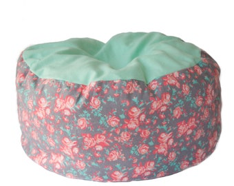 Flannel Cat bed - rose cat bed, floral bed, flannel bed, machine washable cat bed