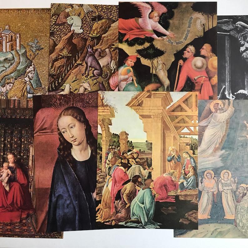 Vintage Christmas Illustrations.Vintage Christmas Nativity Illustrations Vintage Christmas Gallery Wall Art Vintage Nativity Prints Vintage Christmas Decor
