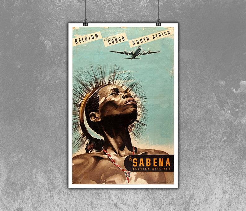 76d2d7e125 Belgian Belgian CongoSouth Africa Sabena Vintage Travel