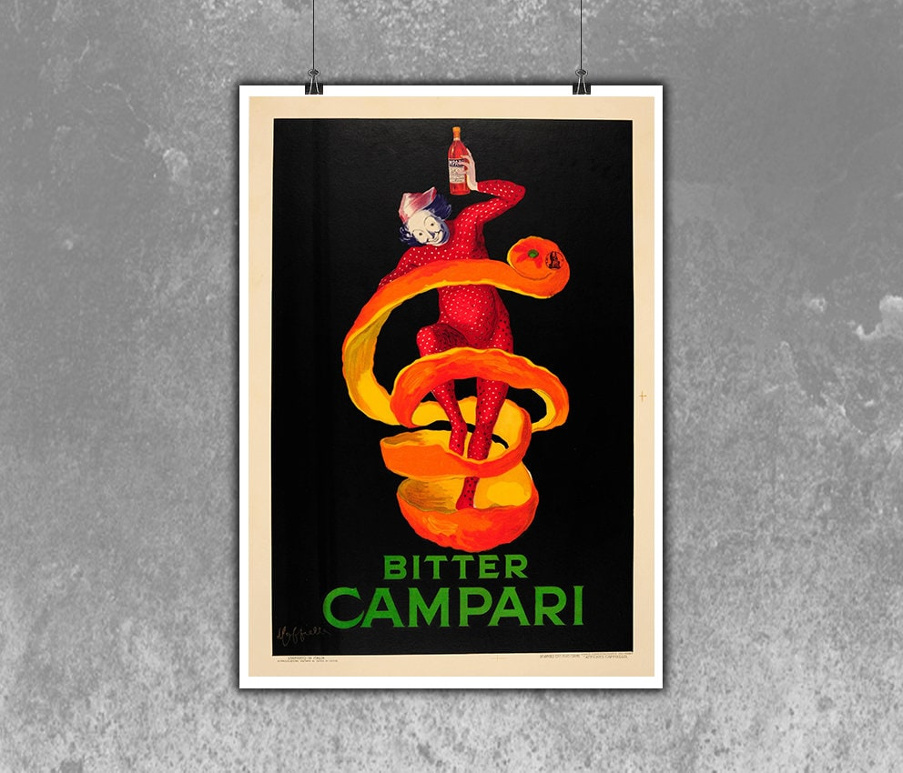 ff662445fdf23 Bitter Campari Vintage Poster Room Decor Campari Bitter Art