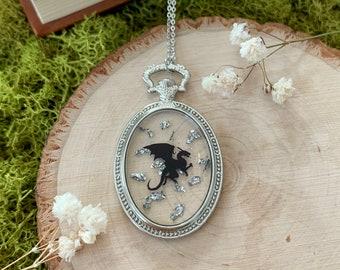 Dragon Necklace - Dragon Pendent - Game Of Thrones Necklace - Hobbit Necklace - Dark Academia