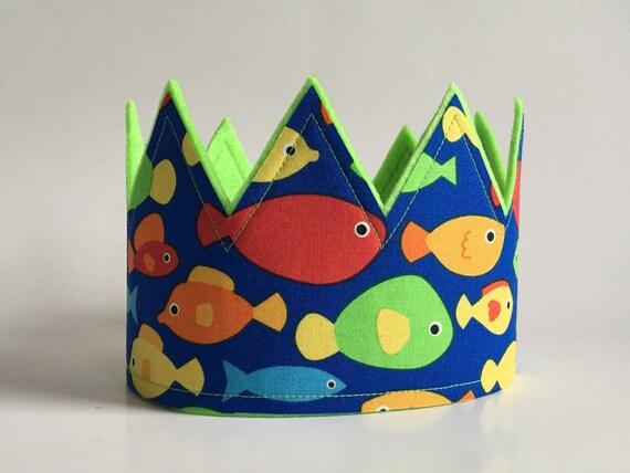 Under The Sea Birthday Crown Fish Crown Underwater Etsy