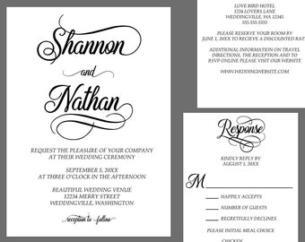 Simple Elegance Modern Wedding Invitations