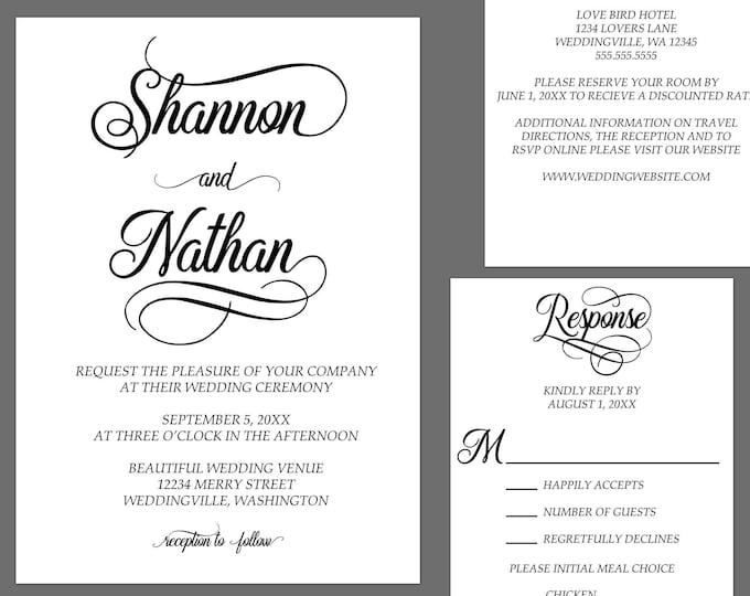 Featured listing image: Simple Elegance Modern Wedding Invitations