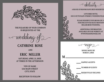 Whimisical Countryside Wedding Invitaiton Suite