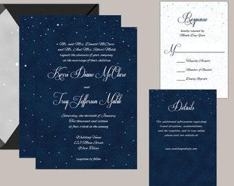 Starry Night Wedding Invitations, Under the Stars Wedding Invitations