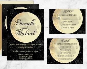 Moon and Back Wedding Invitations,