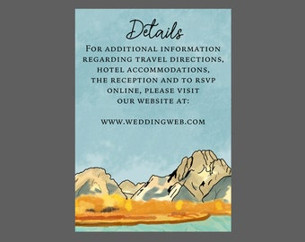 Watercolor Fall Mountain Enclosure Card