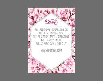 Cherry Blossom Wedding Enclosure Card