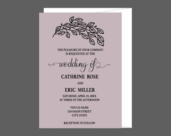 Whimsical Countryside Wedding Invitation