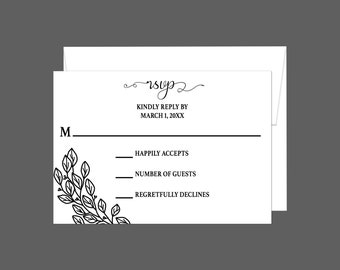 Whimsical Countryside Wedding  RSVP Card