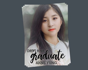 Cheers to The Graduate, Photo Graduation Party Invitation