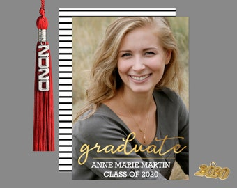 Golden Graduate Graduation Photo Announcement