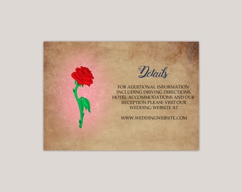 Enchanted Rose Enclosure Card