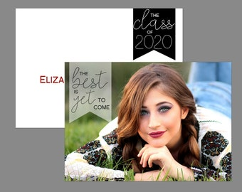 The Best Is Yet To Come Photo Graduation Announcement or Graduation Invitation