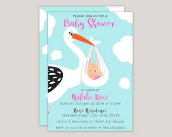 Baby Stork Baby Shower Invitation
