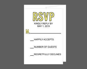 Color Pop Wedding RSVP Card