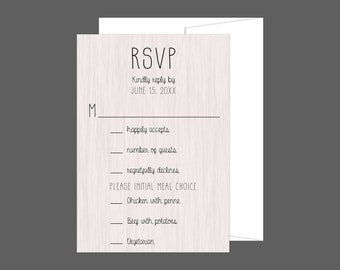 Rustic Modern Wood RSVP Card