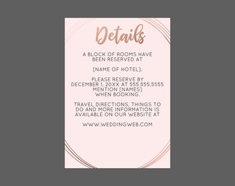 Rose Gold Geometric Oval Enclosure Card