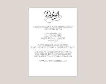 Simple Elegance Wedding Enclosure Card
