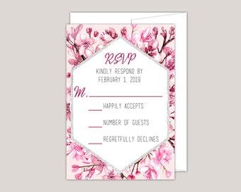 Cherry Blossom RSVP Card