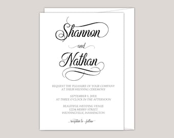Simple Elegance Classical Wedding Invitation