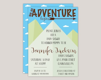 The Adventure Begins Spring Baby Shower Invitation