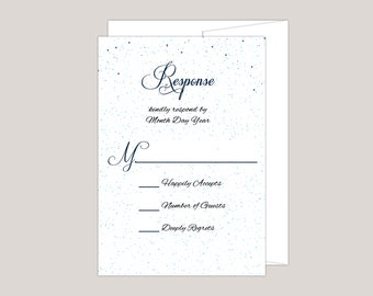STARRYSCAPE- Printed Wedding RSVP Card, Starry Night, Stars at Night, Under The Stars Wedding Themes