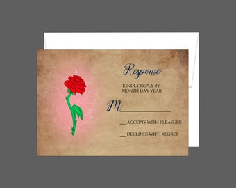 Enchanted Rose RSVP Card