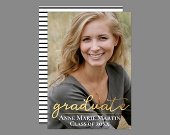 Printable Golden Graduate Graduation Announcement/Invitation