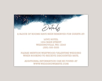 Watercolor Geometric Splash Wedding Enclosure Card